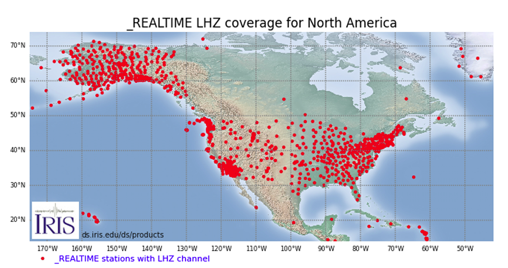North American network of seismic stations