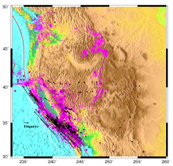 A Plate Boundary Observatory - Map of us plate boundaries